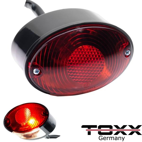 ToXx Rücklicht Cat Eye schwarz rotes Glas