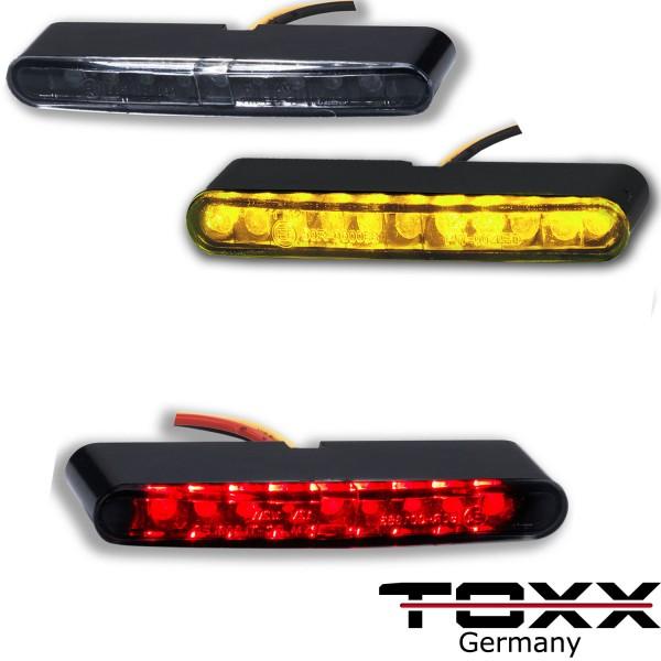 ToXx LED Blinker + Rücklicht Stripe schwarz getönt