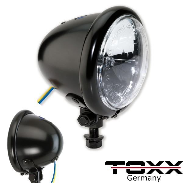 ToXx Motorrad Fernlicht Scheinwerfer Bates Style 4 1/2 Zoll