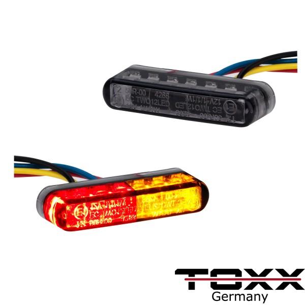 Toxx LED Rücklicht Blinker Shorty schwarz getönt