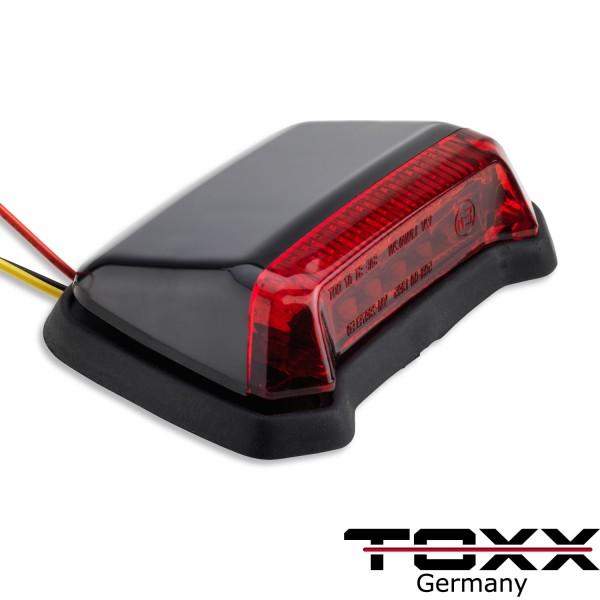 ToXx LED Rücklicht Fender schwarz rotes Glas