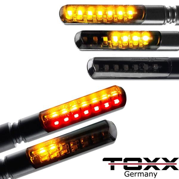 ToXx LED Blinker + Rücklicht Blinker Sequentiell Blade schwarz getönt