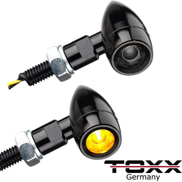 ToXx LED Blinker Bullet HP schwarz getönt