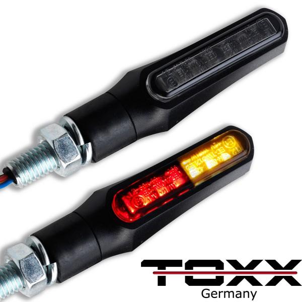 ToXx LED Rücklicht Blinker Shark X1 schwarz getönt