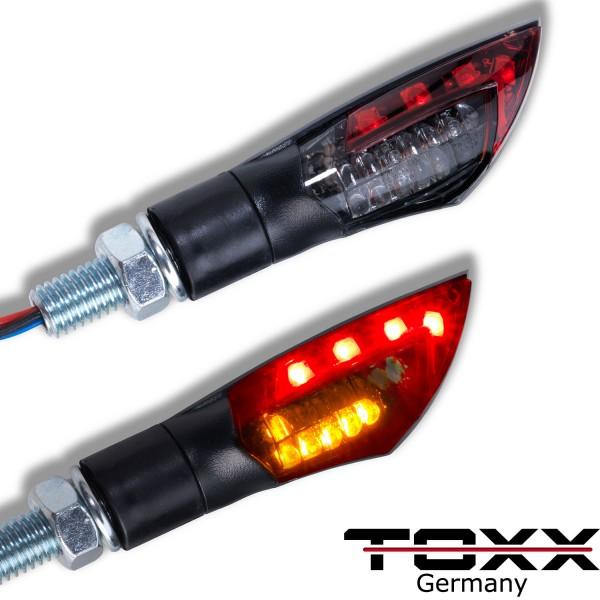 ToXx LED Rücklicht Blinker Dual schwarz rot