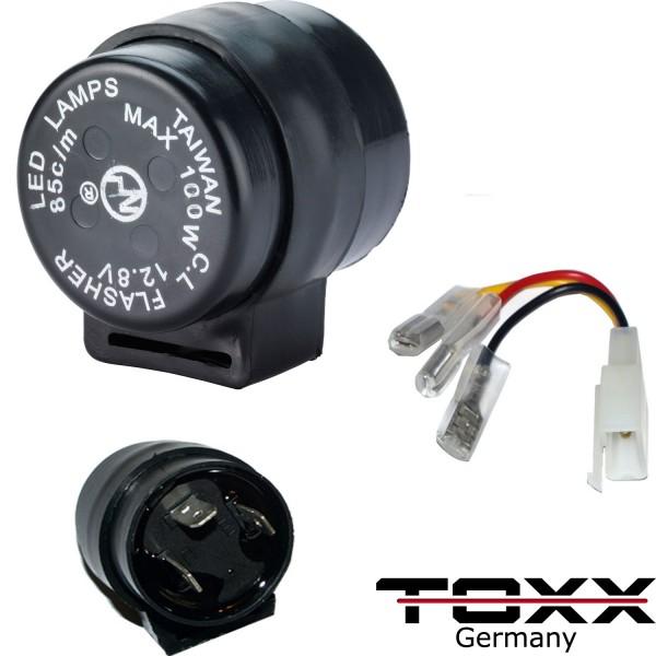 ToXx Universal LED Blinkrelais 3 Polig rund 1-100W