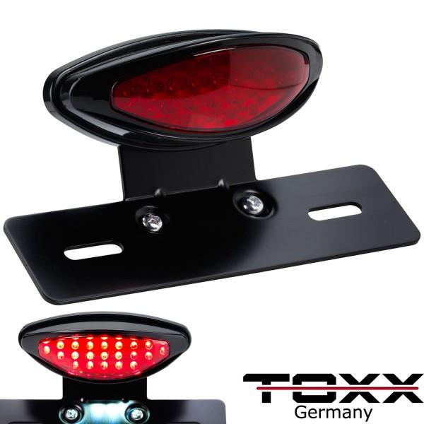 ToXx LED Rücklicht Classic mit schwarzem Kennzeichenhalter