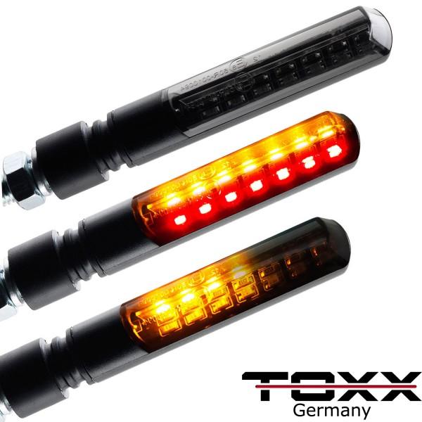 ToXx LED Rücklicht Blinker Sequentiell Blade schwarz getönt